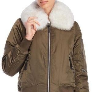 f9c6f1de9d38 Derek Lam Jackets   Coats - Derek Lam 10 Crosby Fox Fur Collar Bomber Jacket